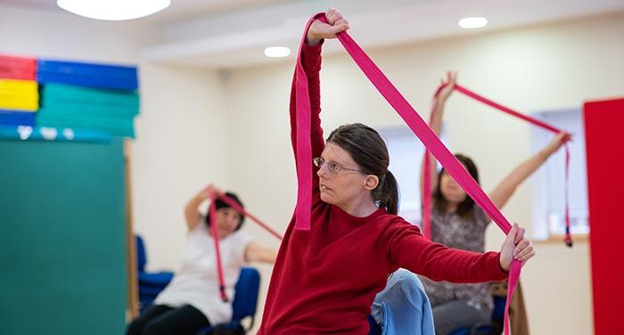 Woman enjoying exercise