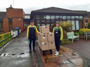 Norwich Football Club Staff Deliver Food To Vision Norfolk
