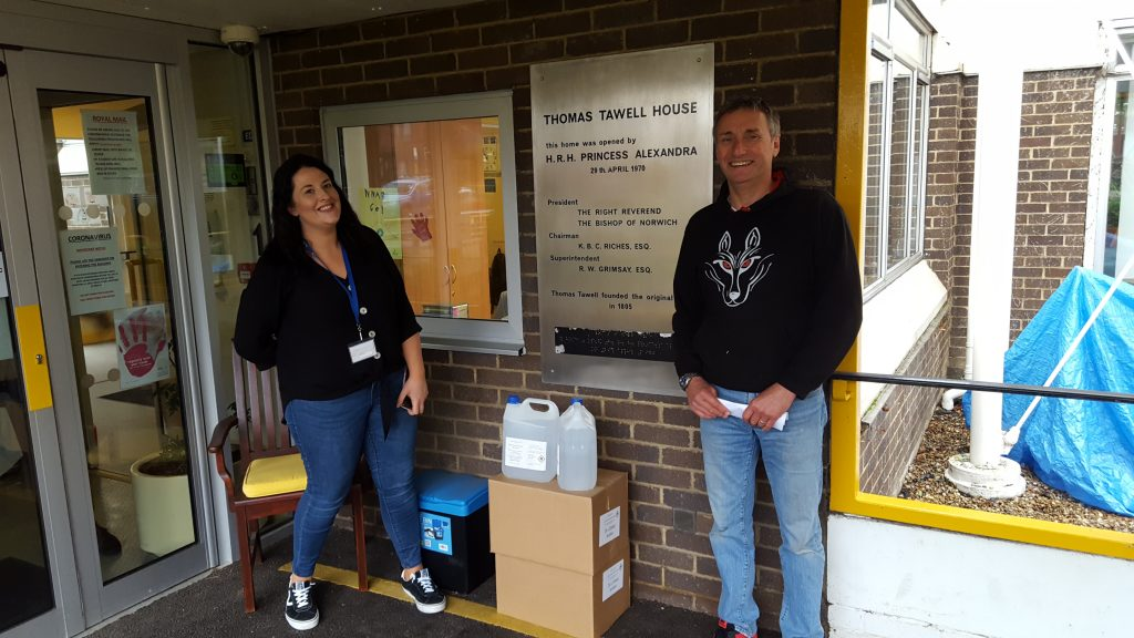 Staff From Norfolk Gin Firm Deliver Hand Sanitser